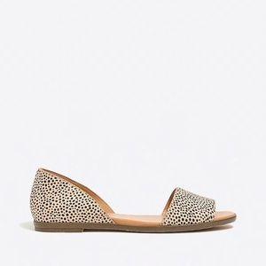 JCREW Morgan animal print peep toe sandals